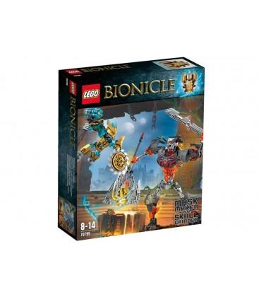 LEGO® Creatorul de masti fata-n fata cu Craniul distrugator [70795]