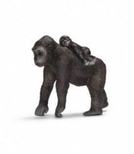Figurina animal GORILA - FEMELA CU PUI