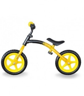 Bicicleta Fara Pedale - Master Sport, Poke, Galben, 12 inch