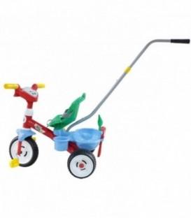 Tricicleta Baby Trike cu maner si set jucarii nisip