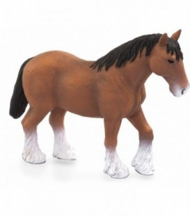 Figurina Cal Clydesdale maro