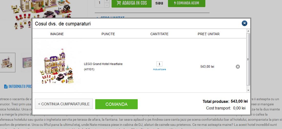 Comanda online jucarii LEGO